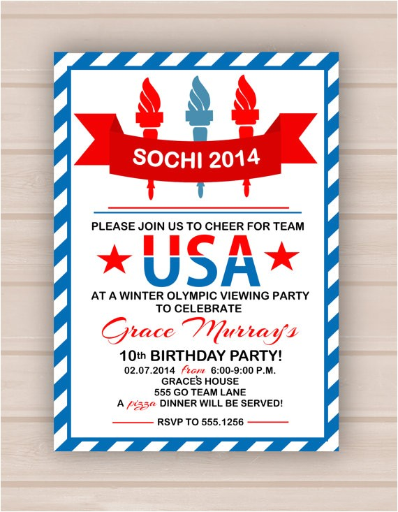 printable olympic party invitation 3