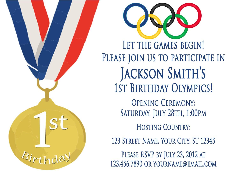 olympics party invitation