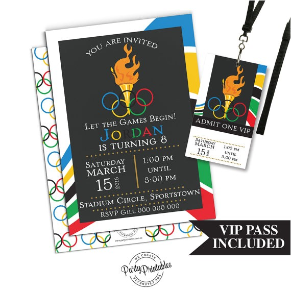 olympic party invitation vip pass 2