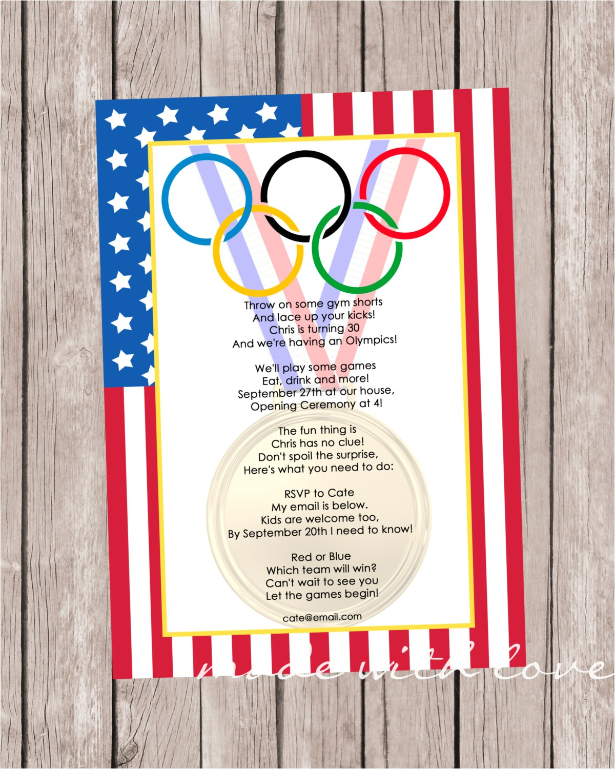 olympic games a party invitation