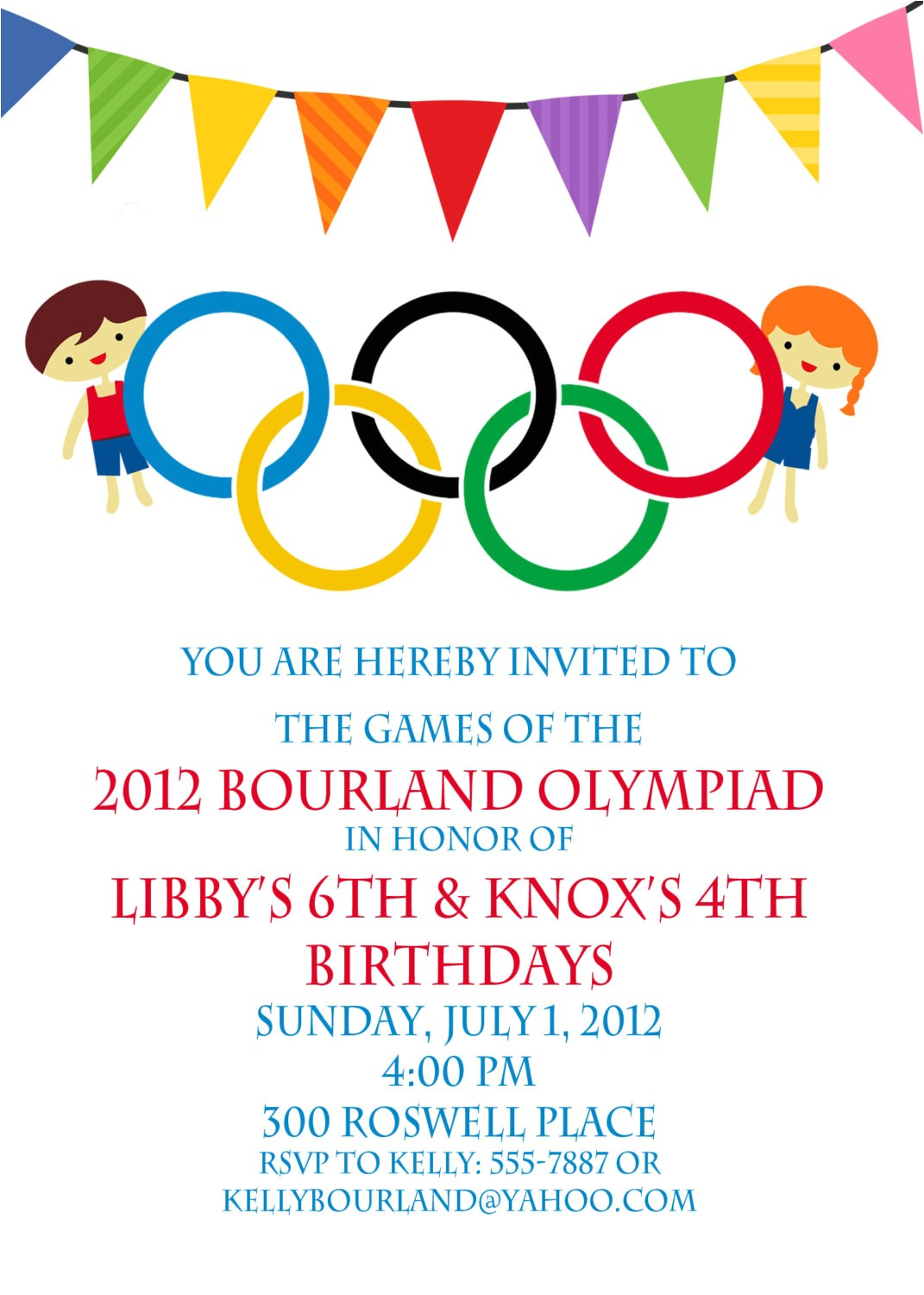 olympic party invitation olympics