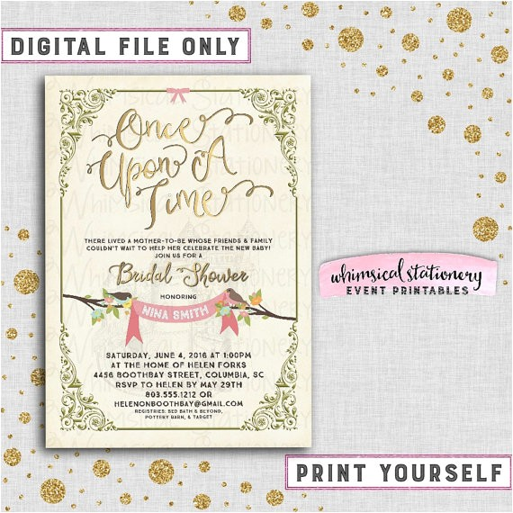 bridal shower invitation once upon a