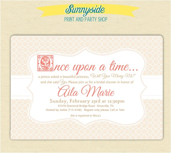 once time bridal shower storybook invites 2