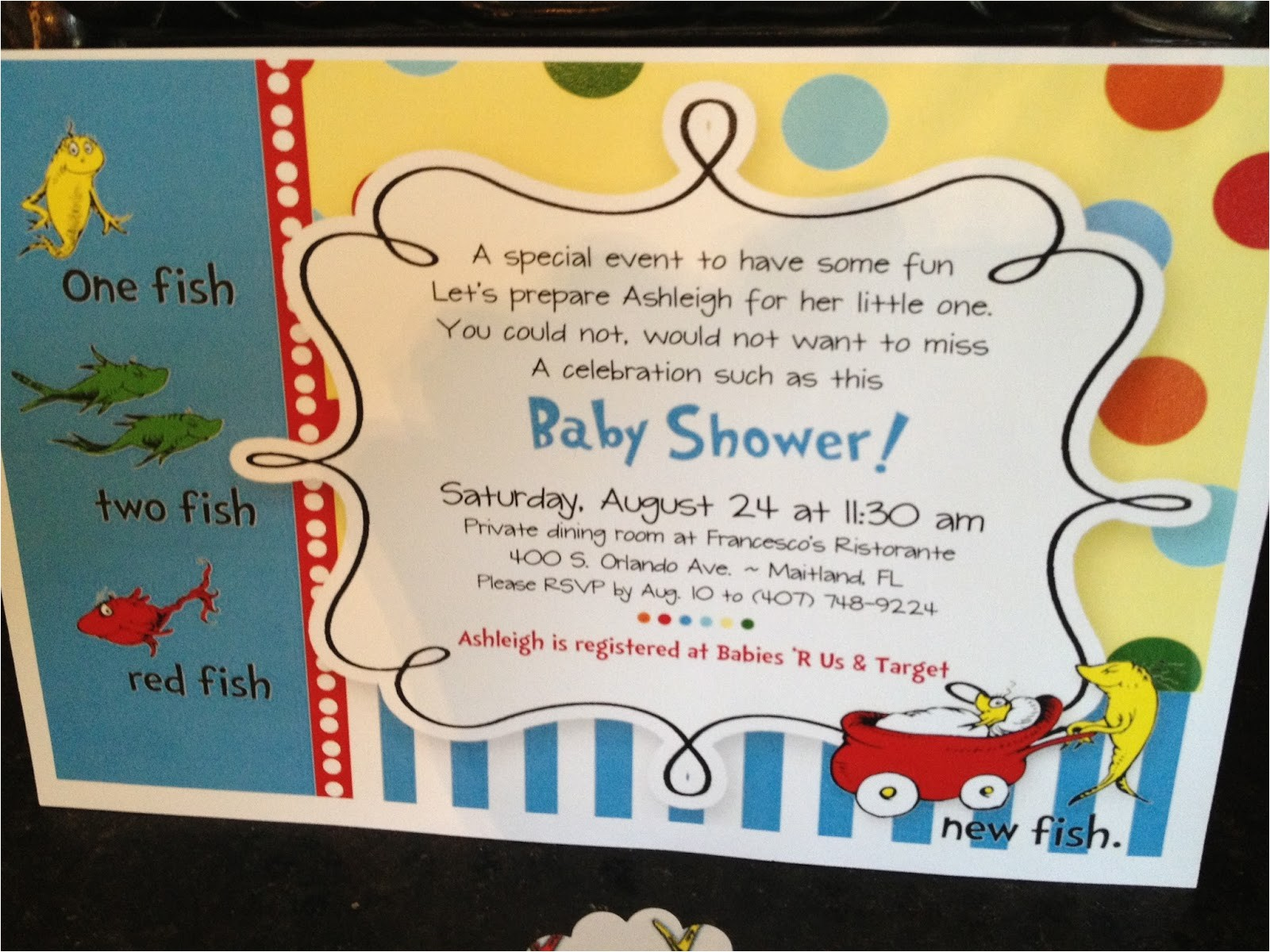 one fish two fish baby shower invitations 2
