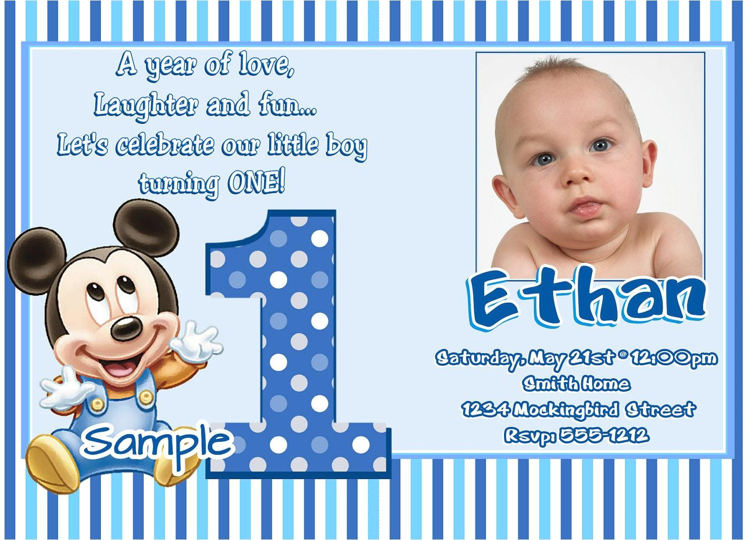 one year birthday invitation wording