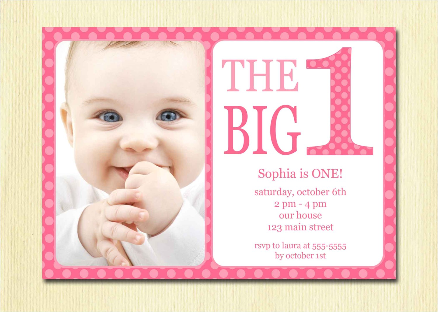 one year old birthday party invitations 2