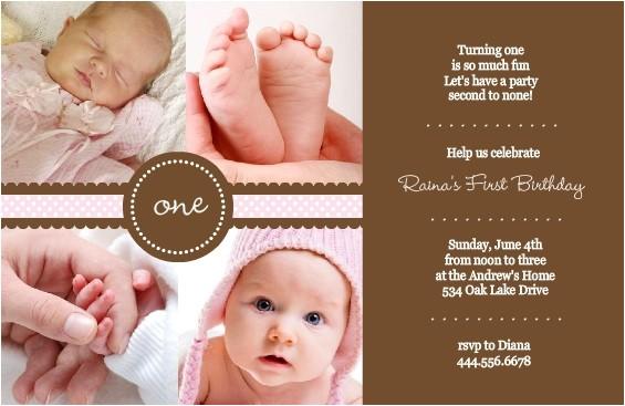 1st birthday invitation wording ideas