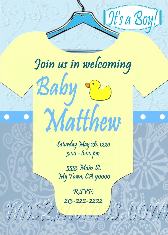 baby shower onesie invitations printable
