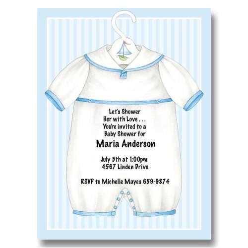 blue onesie boy baby shower invitations mdis0047