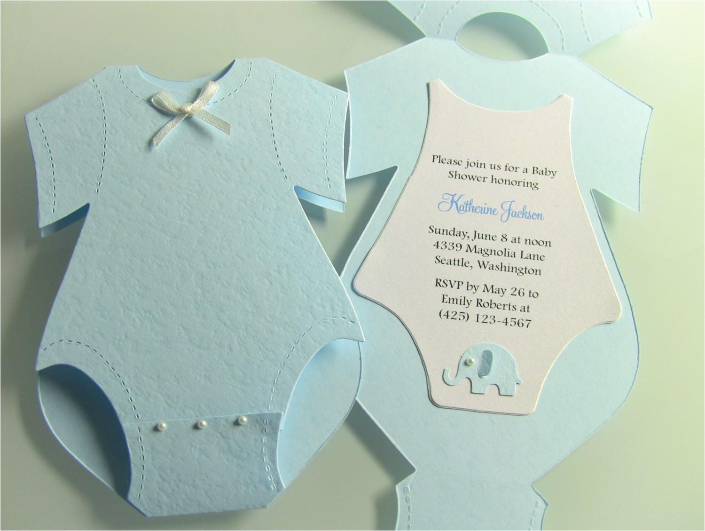 17 yellow onesie baby shower invitations