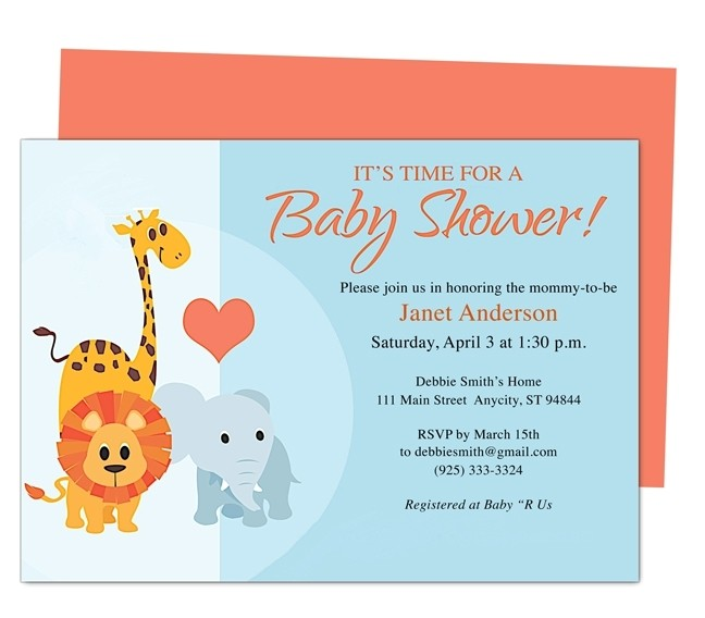 free online baby shower invitations templates