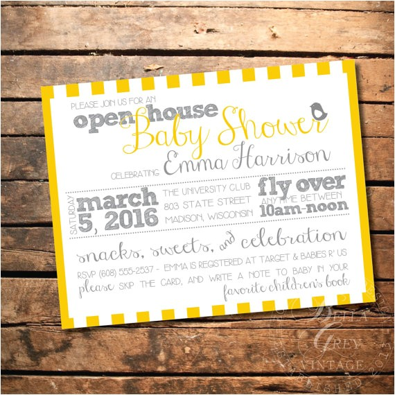 peep baby shower invitation open house