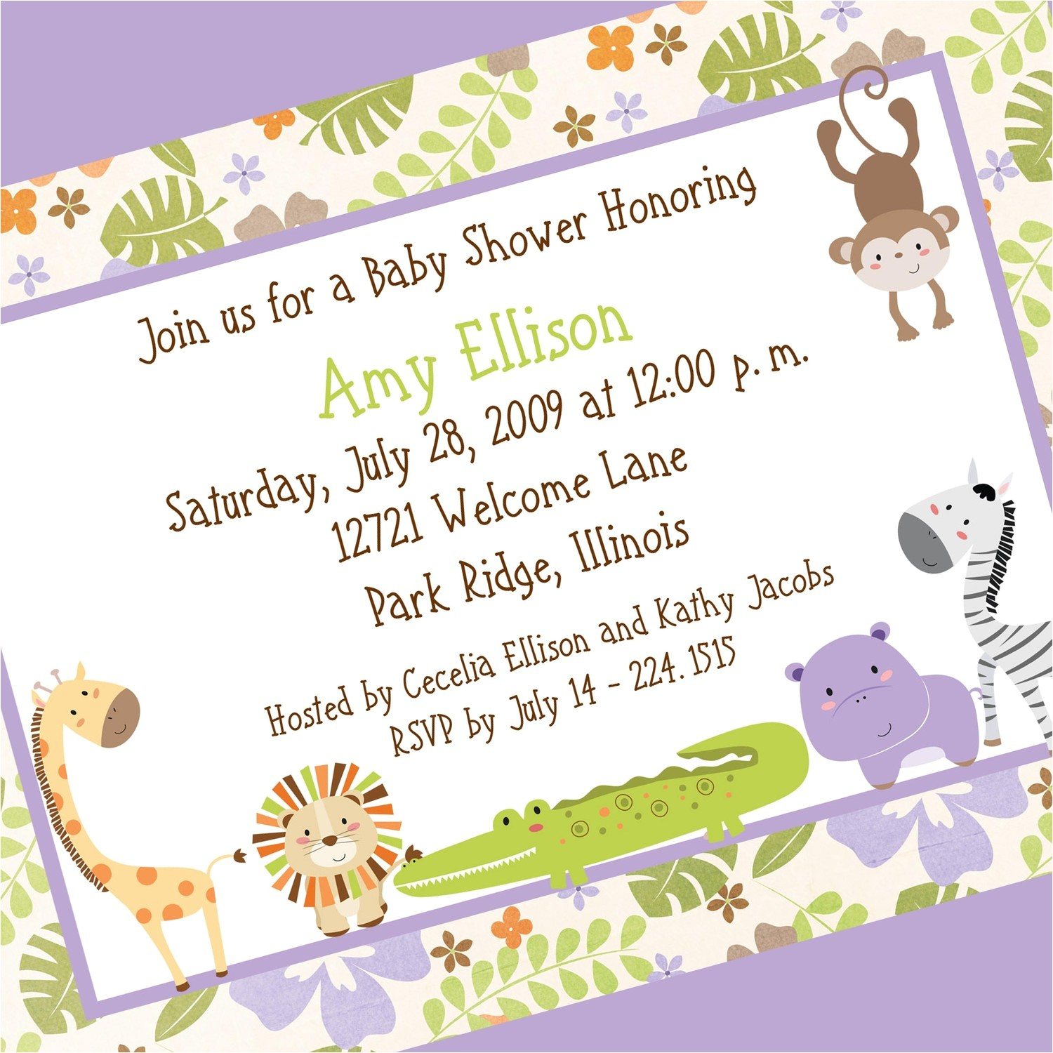 baby shower open house invitation wording