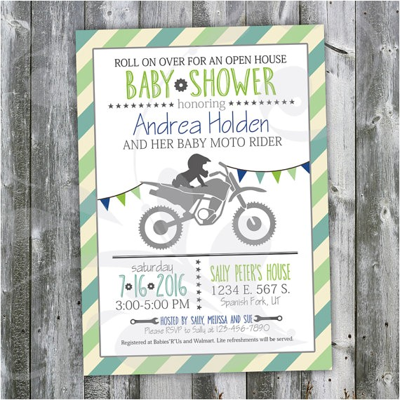 motocross baby shower open house