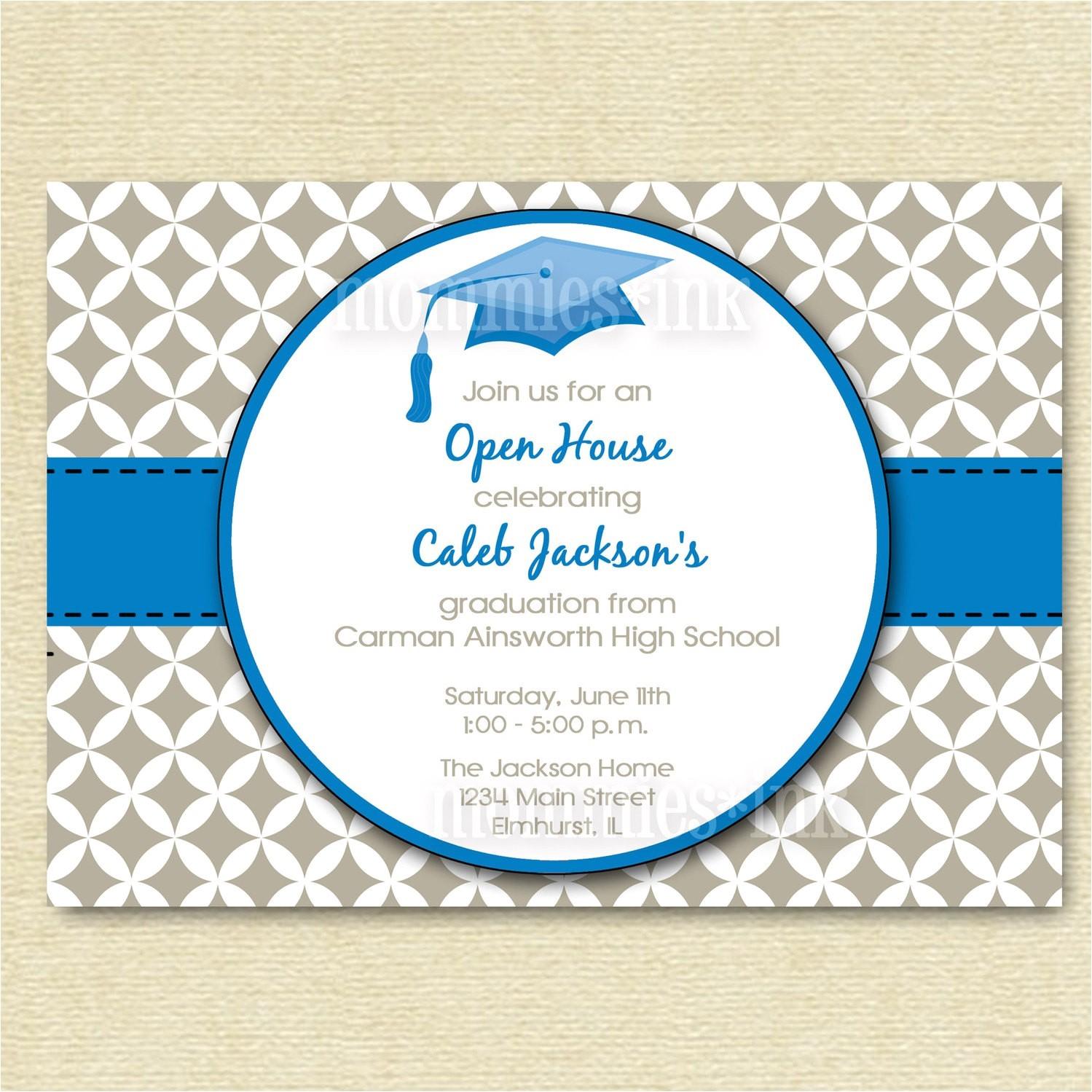 graduation invitation open house