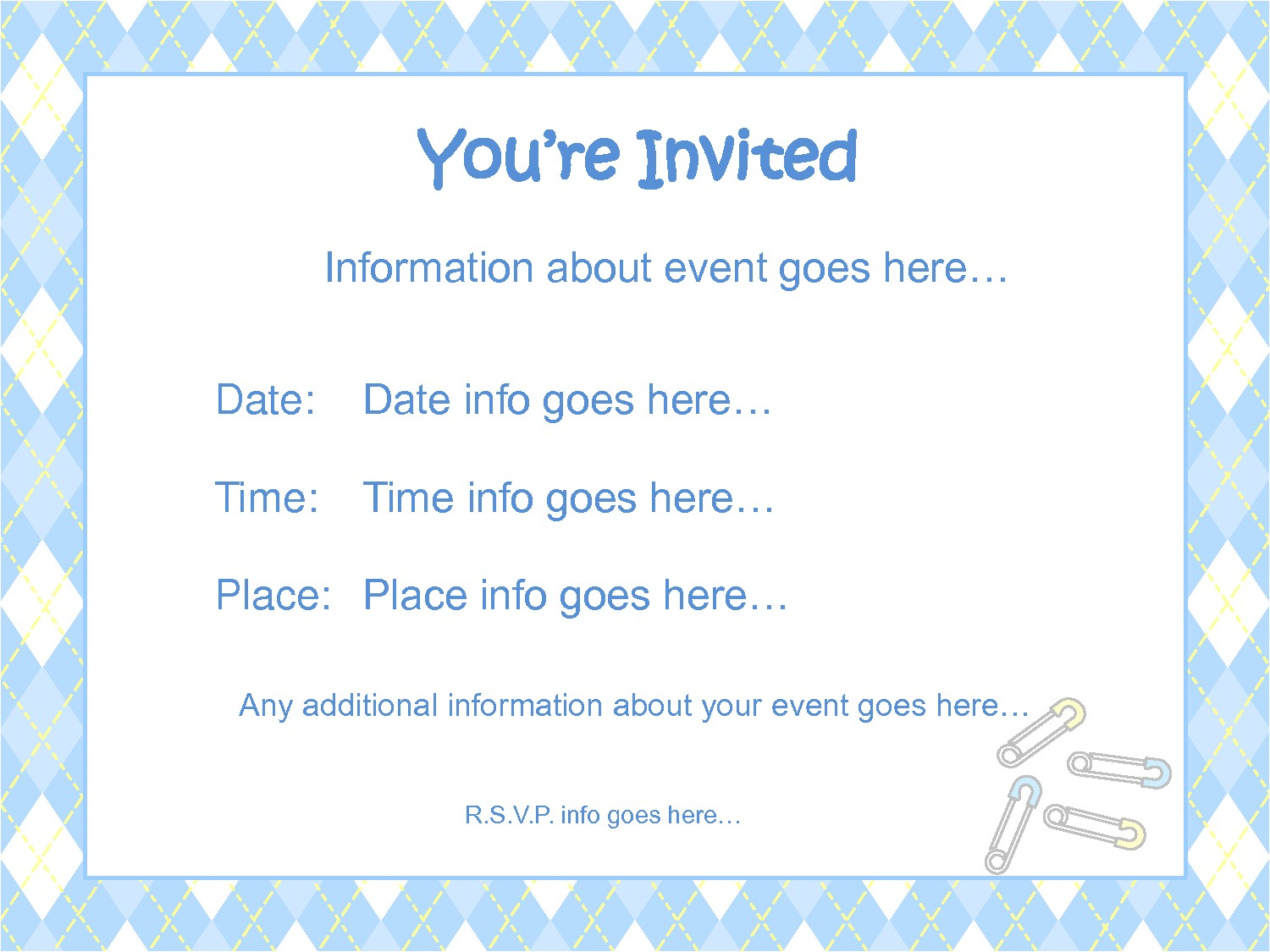 order baby shower invitations template