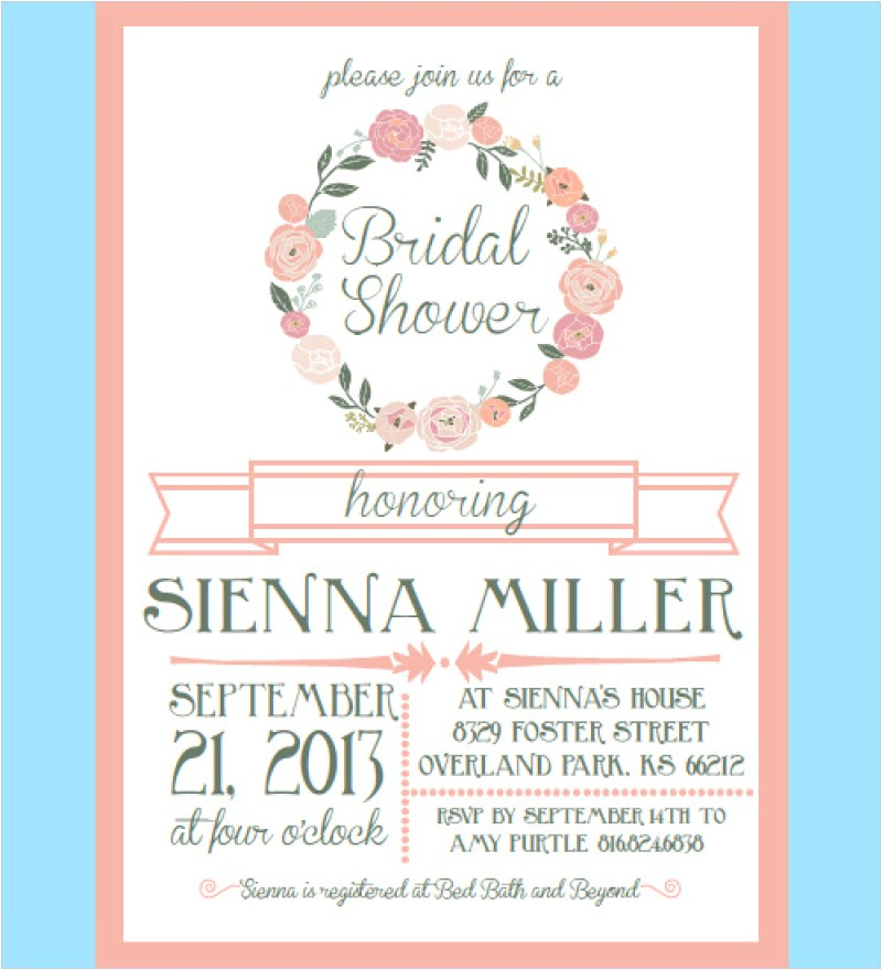 bridal shower invites templates