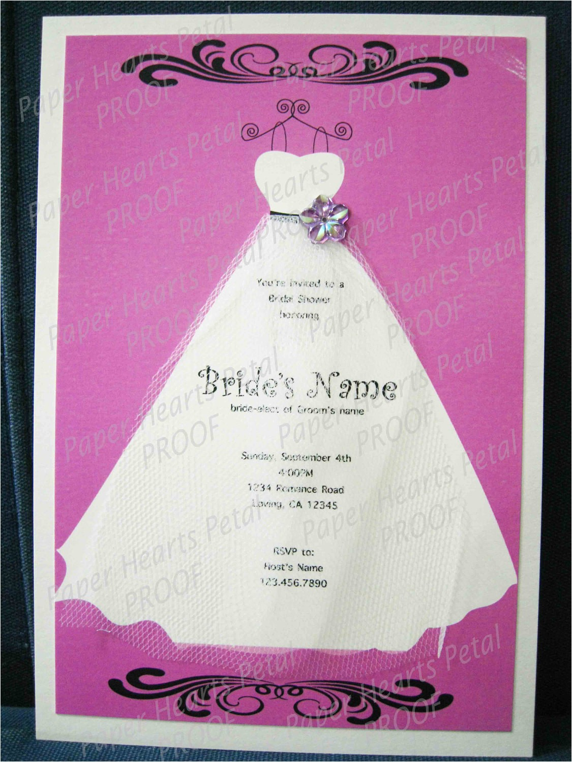 custom bridal shower invitation with