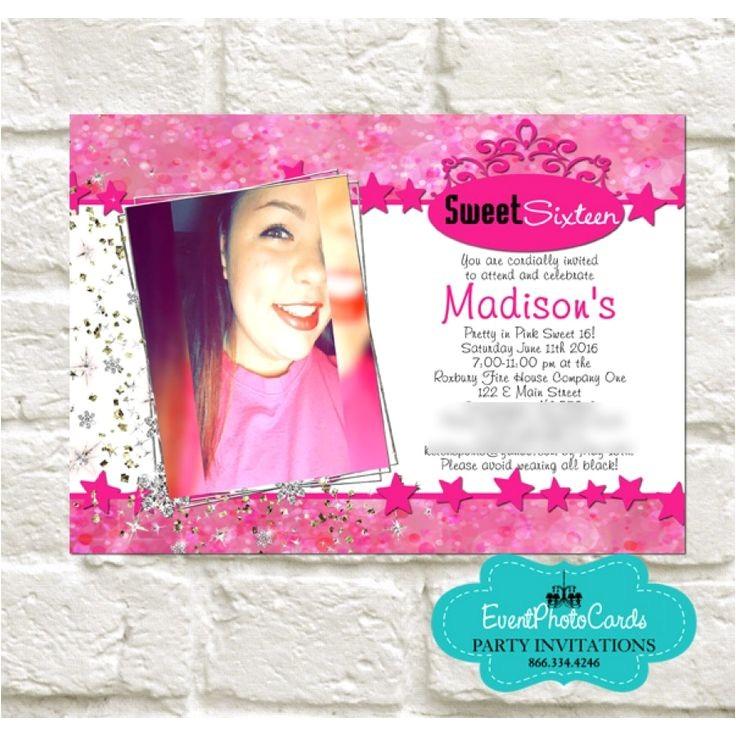 quinceanera photo invitations