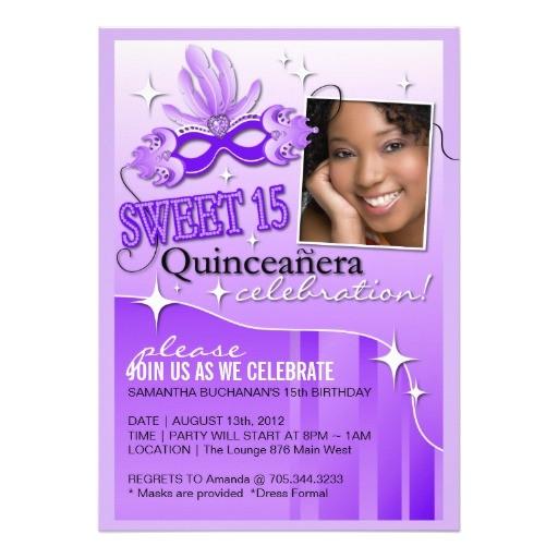Order Quinceanera Invitations Online Quinceanera Masquerade Invitation 5 Quot X 7 Quot Invitation Card