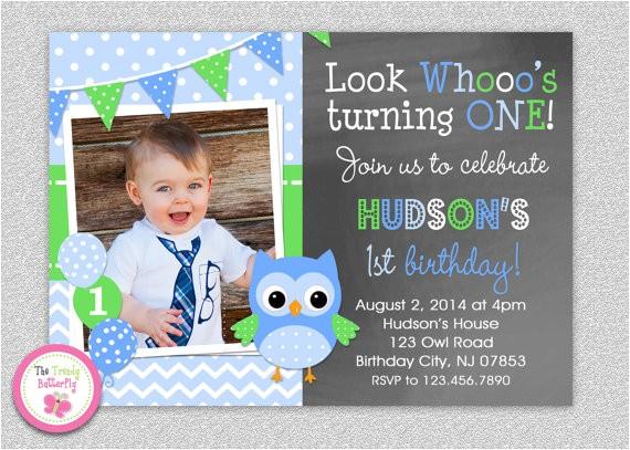 owl 1st birthday invitation owl birthday
