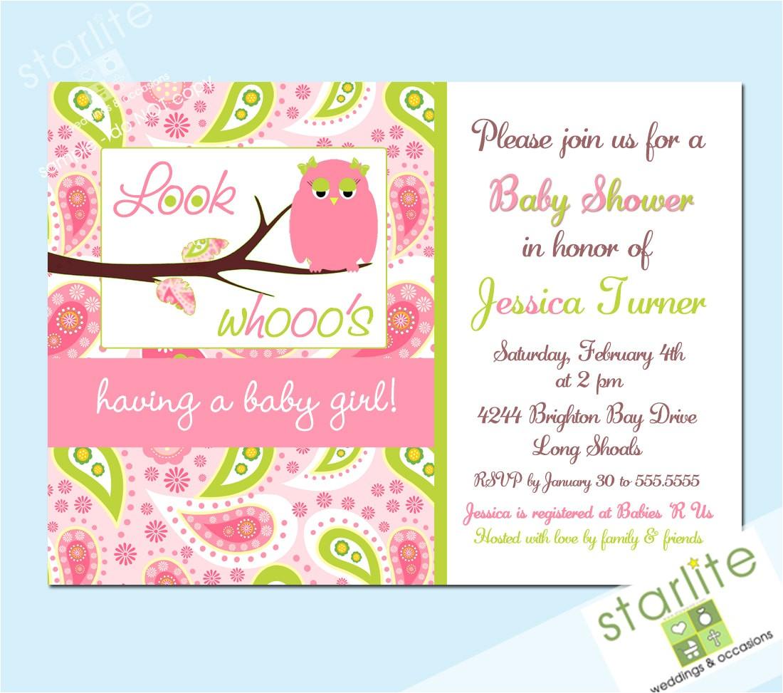 owl baby shower invitations etsy