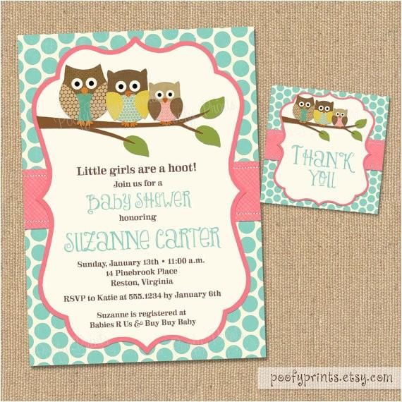 owl baby shower invitations diy