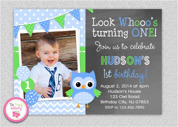 owl 1st birthday invitation owl birthday 2
