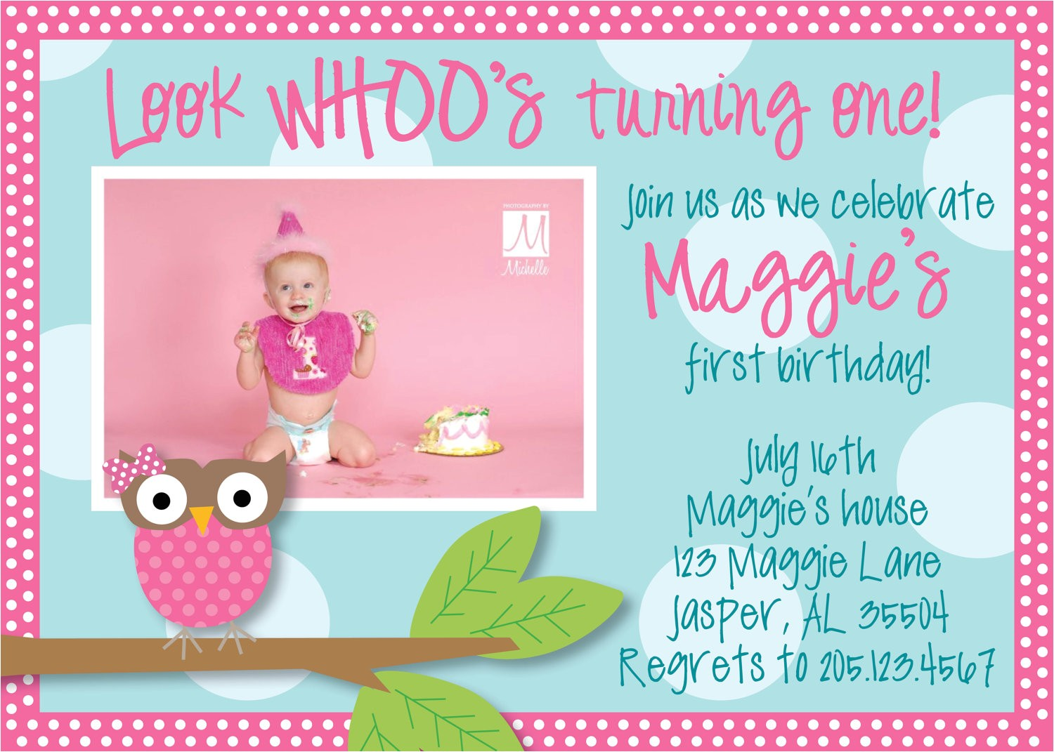 owl 1st birthday invitations ideas