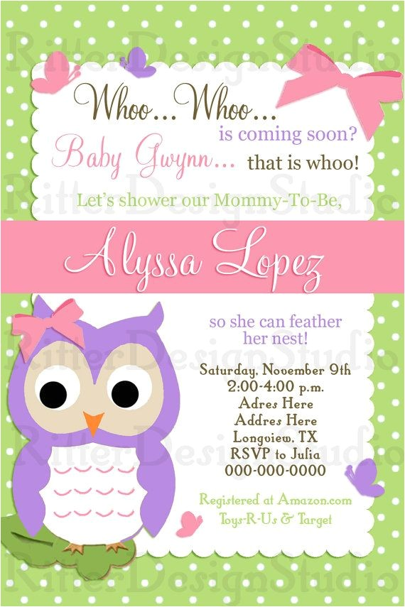 Owl Invitations for Baby Shower 30 Best Baby Shower Invitations Images On Pinterest
