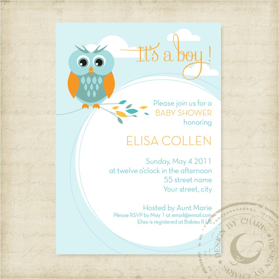 baby shower owl invitations template