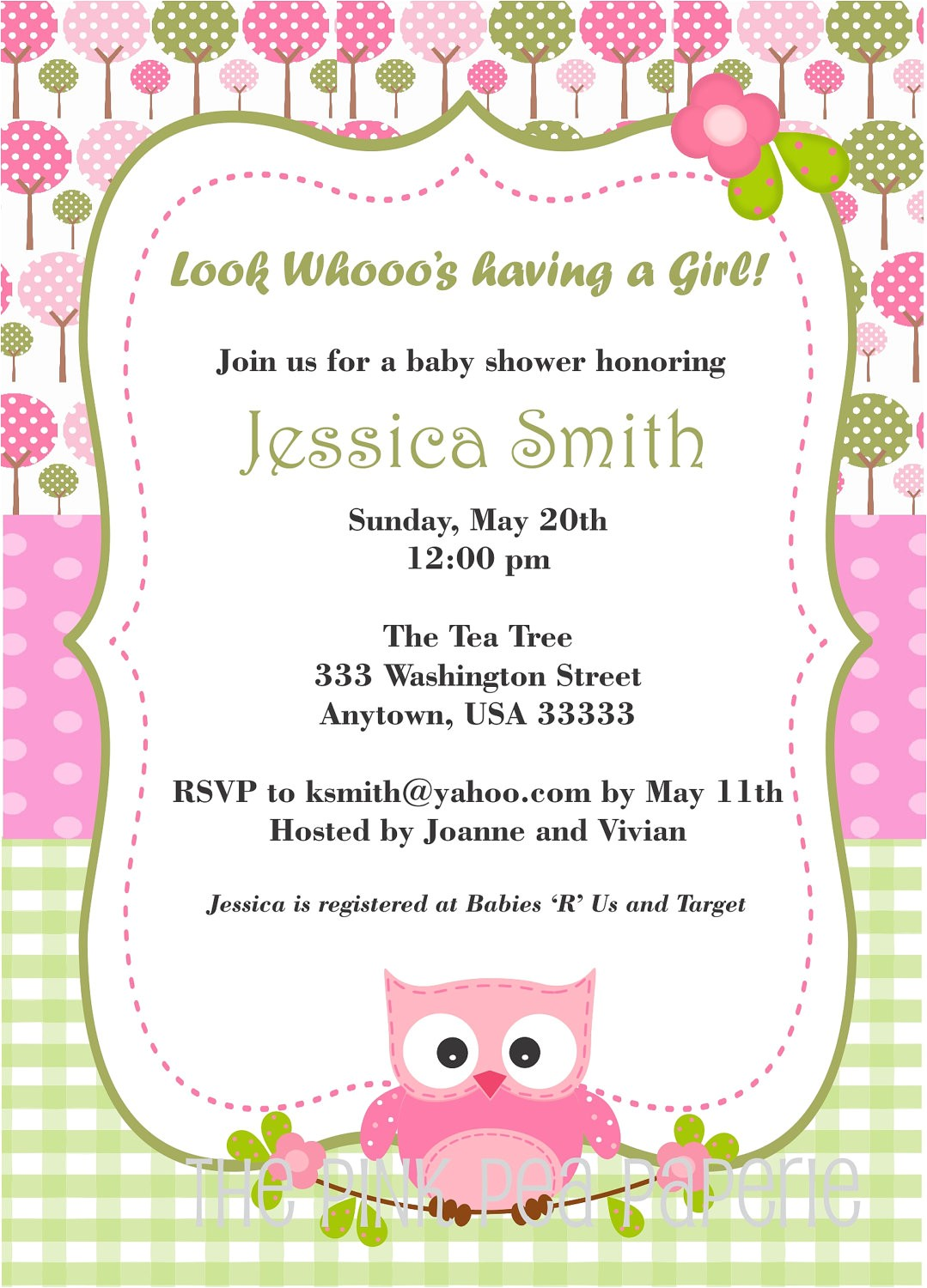 owl baby girl shower invitations including attractive baby shower invitation templates with full of smart design ideas 17