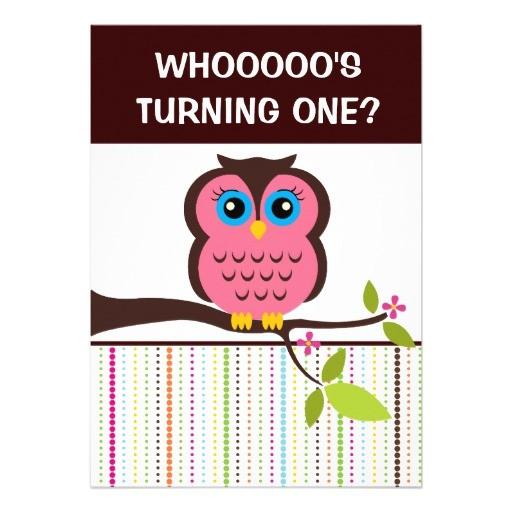 owl theme invitations