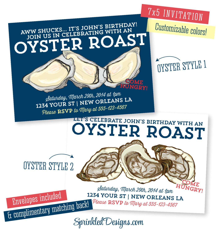 oyster roast dinner party invitation