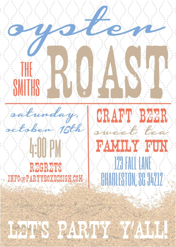 oyster roast party invitations 20
