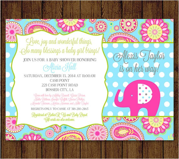 elephant baby shower paisley baby shower
