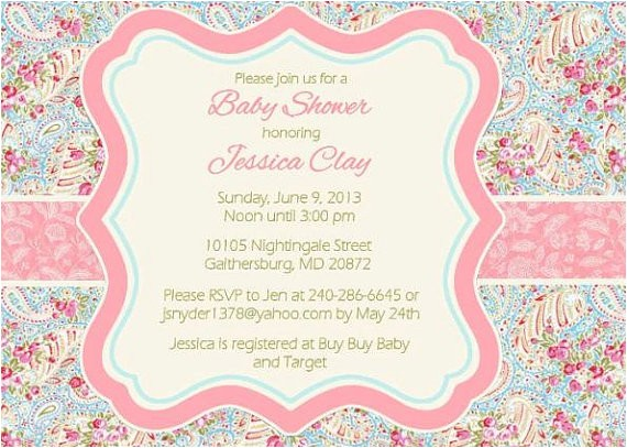 spring floral paisley baby shower