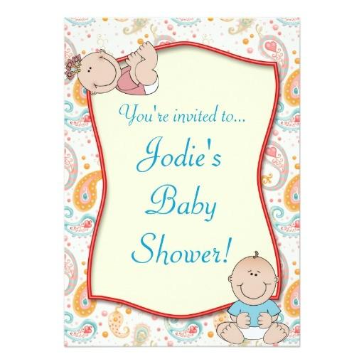 Paisley Baby Shower Invitations Paisley Baby Shower Invitation