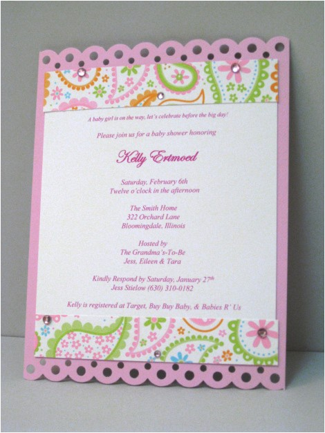 pink paisley baby shower invitation 3