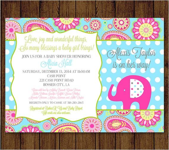 elephant baby shower paisley baby shower