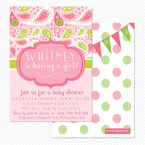 pink paisley baby shower birthday party