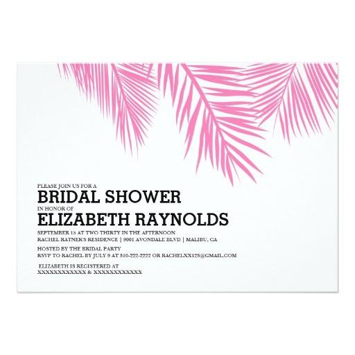 elegant palm tree beach bridal shower invitations 161297396217772673