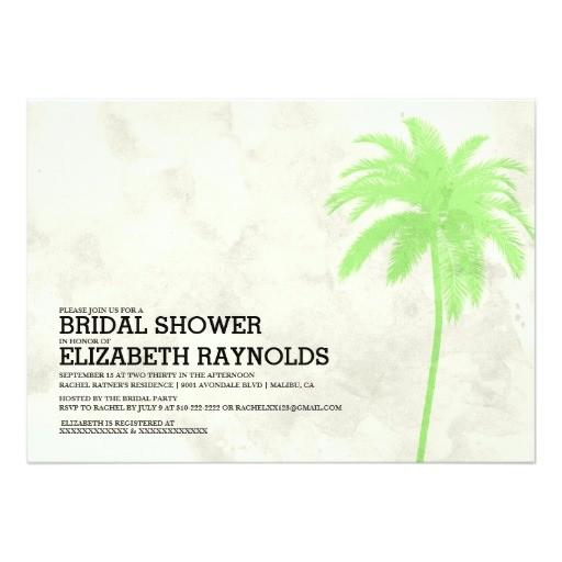 modern palm trees beach bridal shower invitations 161061810703093221