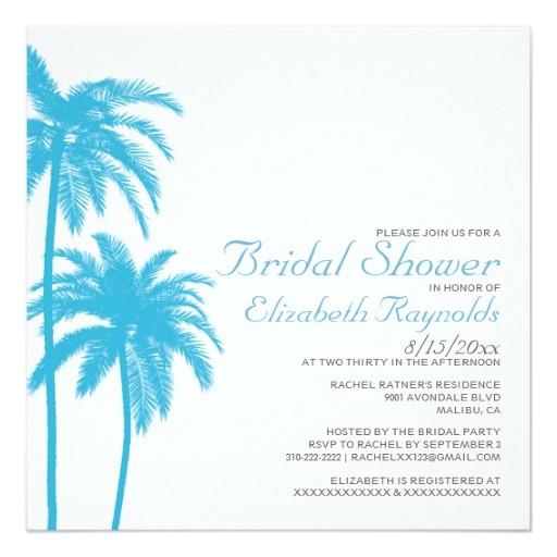 palm tree beach bridal shower invitations 161677063557096013