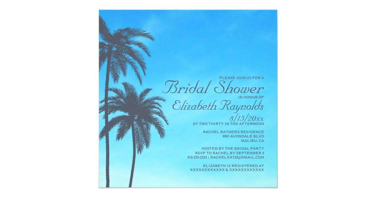 rustic palm tree bridal shower invitations 161283494644601921
