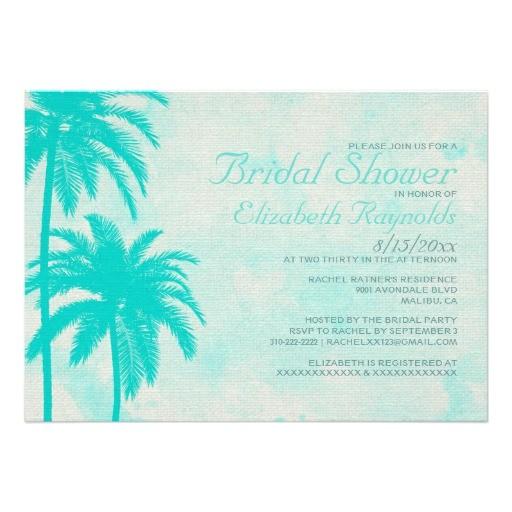 rustic palm tree burlap bridal shower invitations 161534415269949833