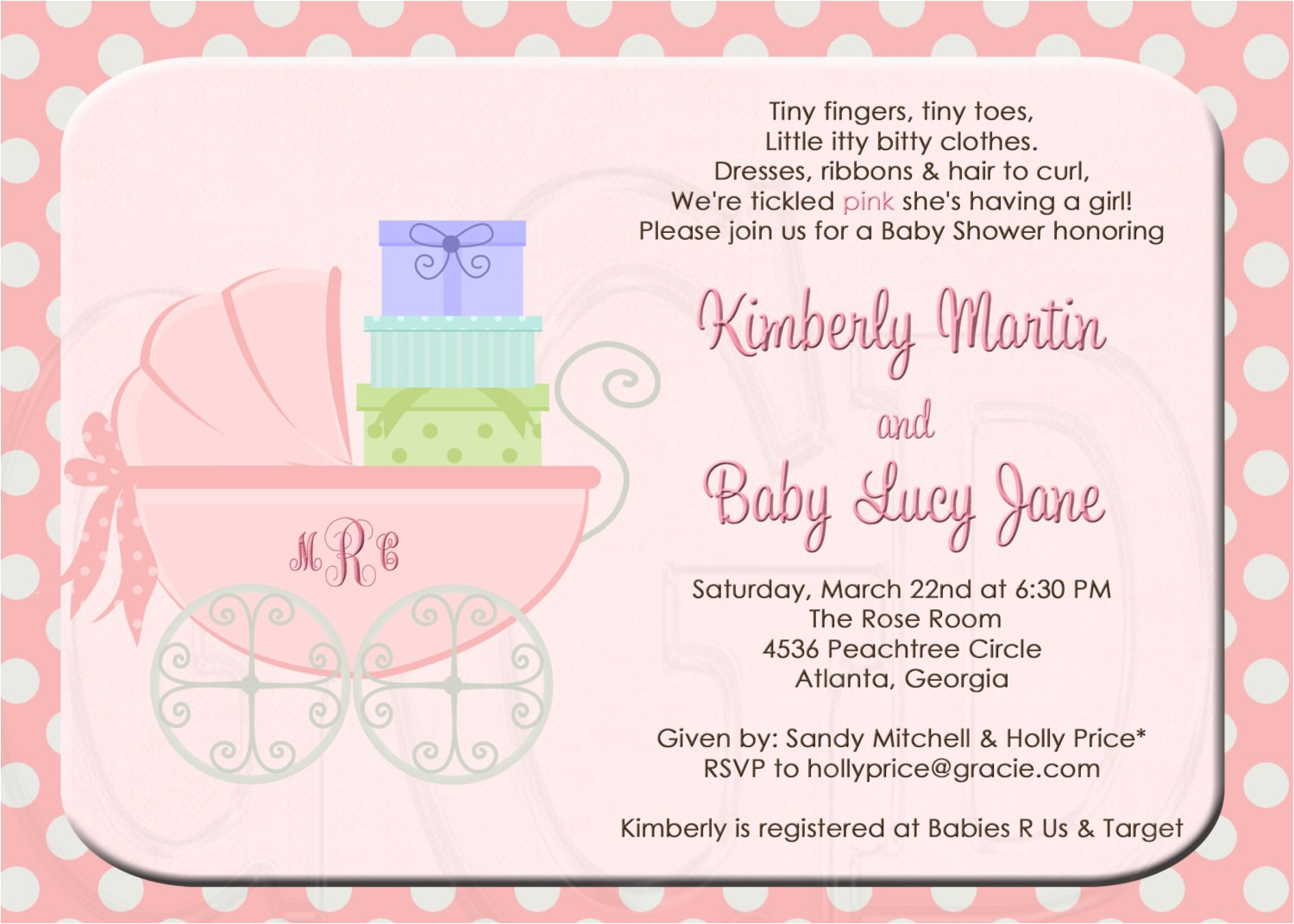 Pamper Invitations Baby Shower Sample Baby Shower Invitations Wording