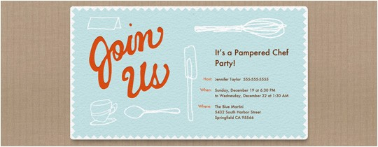 pampered chef bridal shower invitations wordi