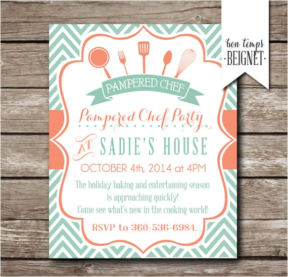 pampered chef party invitation bridal