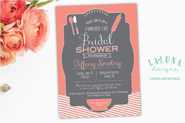 kitchen bridal shower invitation pampered chef bridal shower invite kitchen bridal shower diy printable